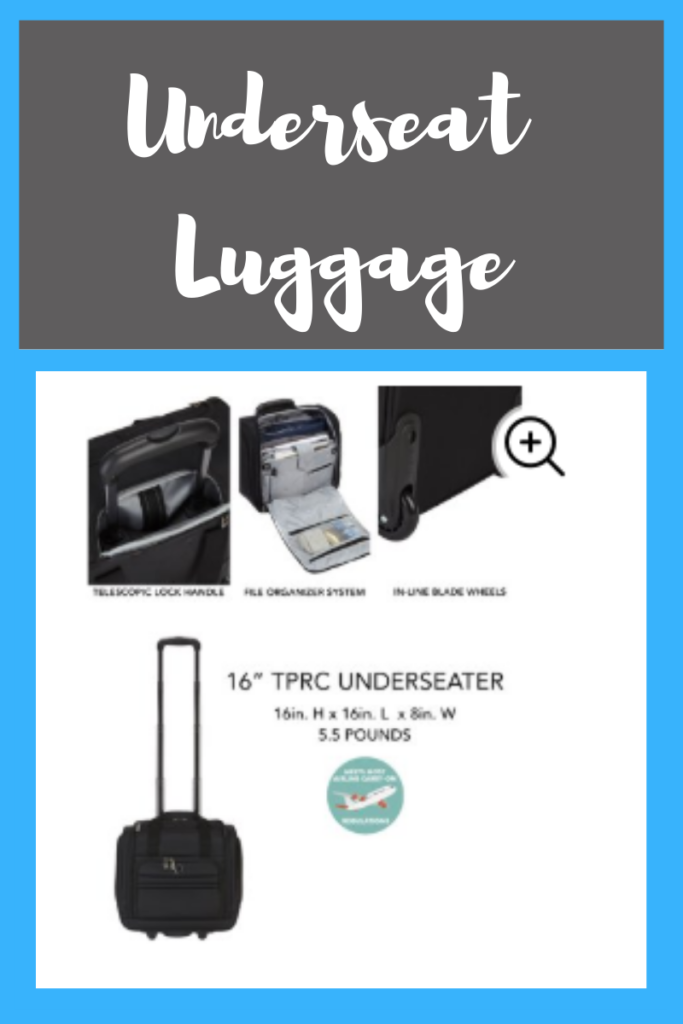 Underseat luggage for Spirit Airline